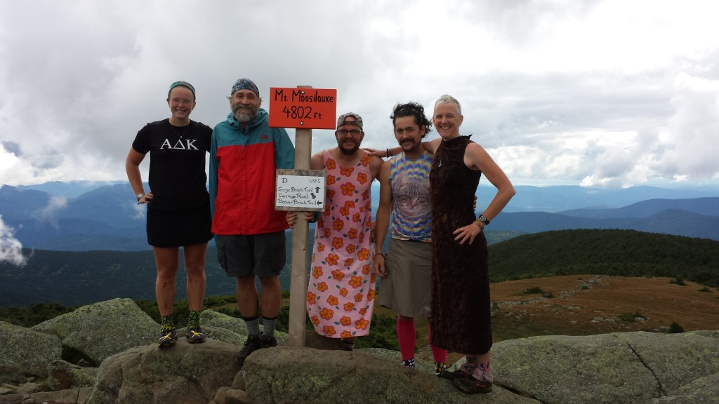 The Dukes do Moosilauke. Its a hiker tradition to do it in a dress, but everything made my butt look too big