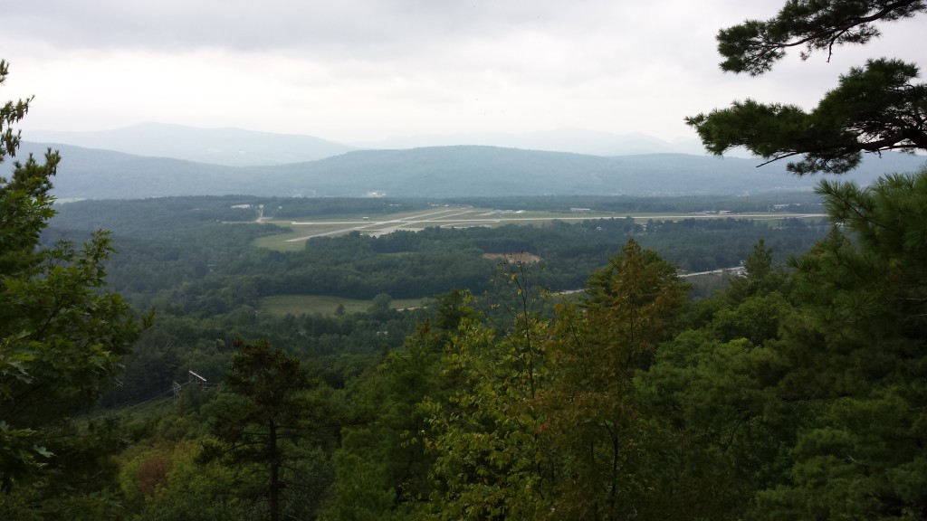 The trail overlooking the airport at Rutland, Vermont