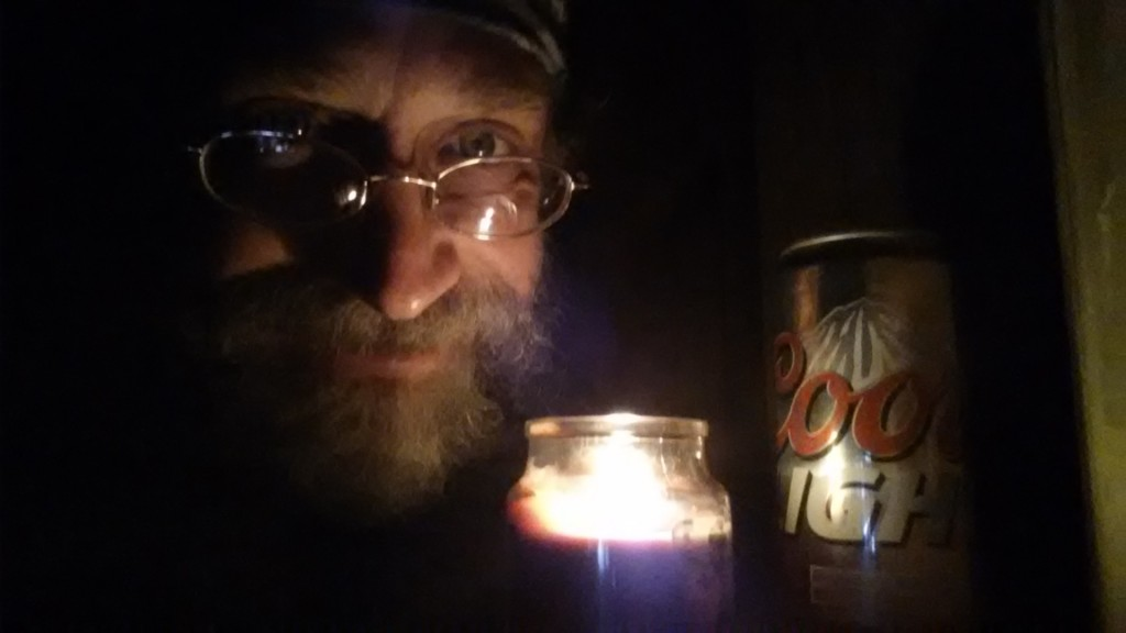 """""""I pulled in to Nazareth, was feelin''bout half-passed dead..."""" Ended up alone in this shelter late one evening and found a couple of beers, water and a candle...magic!"""