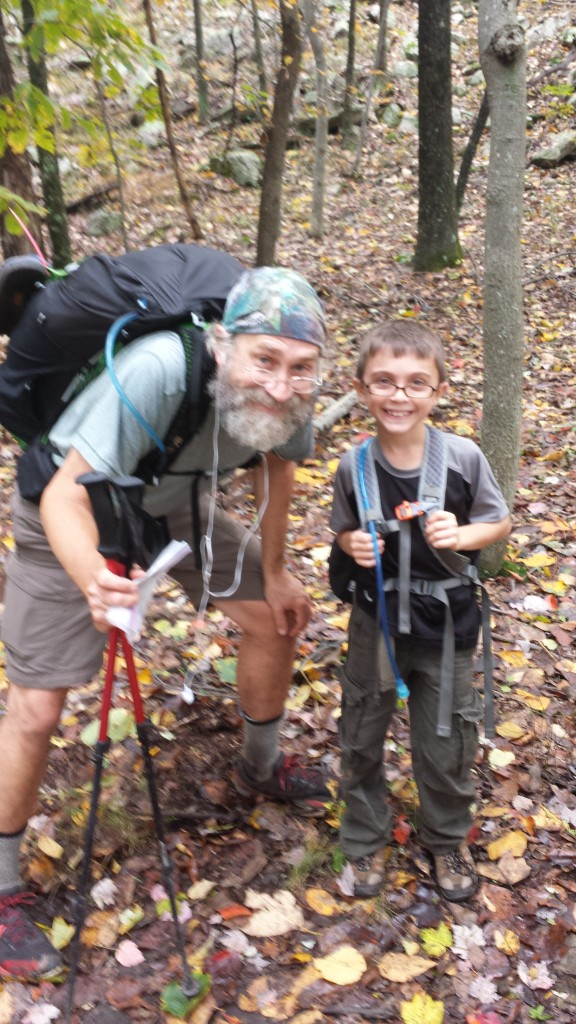 I met Gabe and his dad Greg on the trail one rainy day