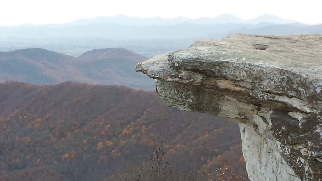 Well-known AT photo spot McAfee Knob