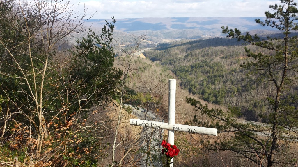 Touching memorial aloong the trail just south of Bland, VA