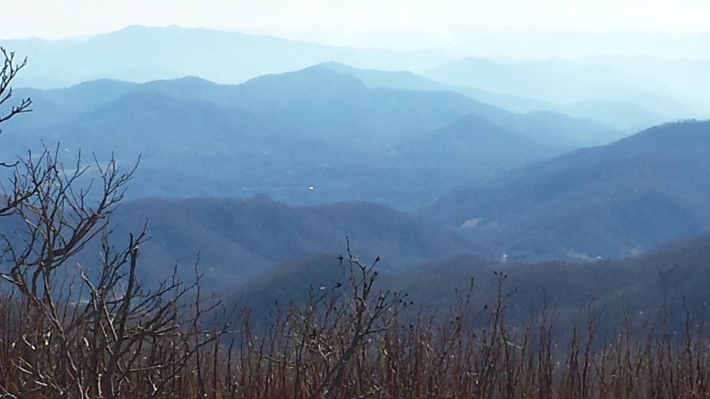 A great example of the endless layers of Blue Ridge one sees on this part of the trail
