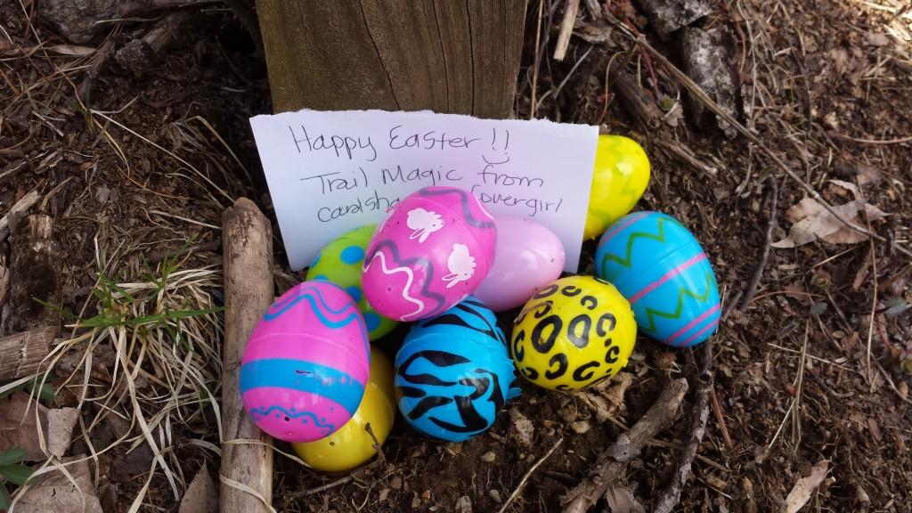 Easter morning trail magic! Inside?
