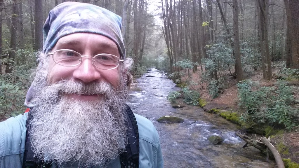 Last stream crossing, final morning