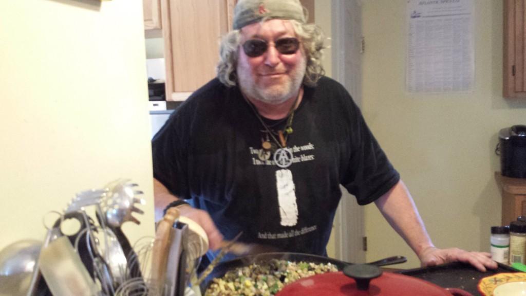 Baltimore Jack stirring his amazing spaghetti sauce
