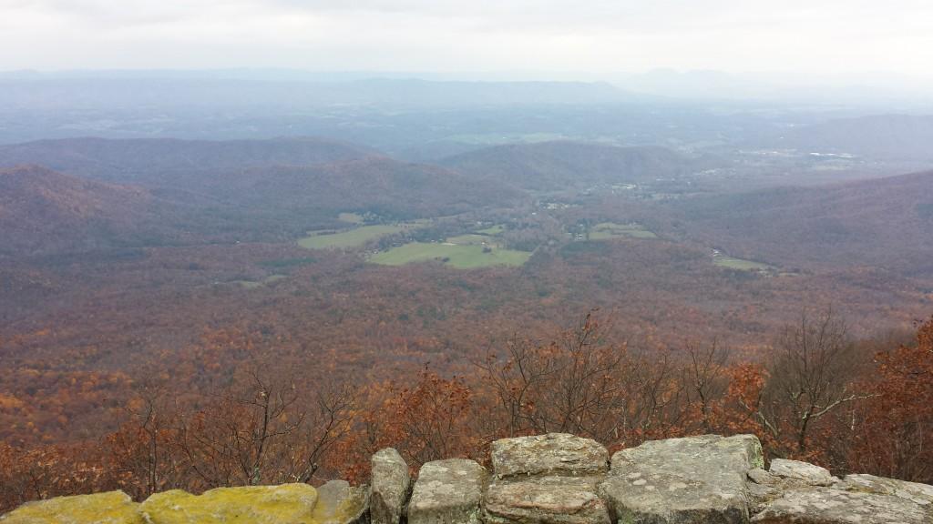 From a ridge near Daleville, VA