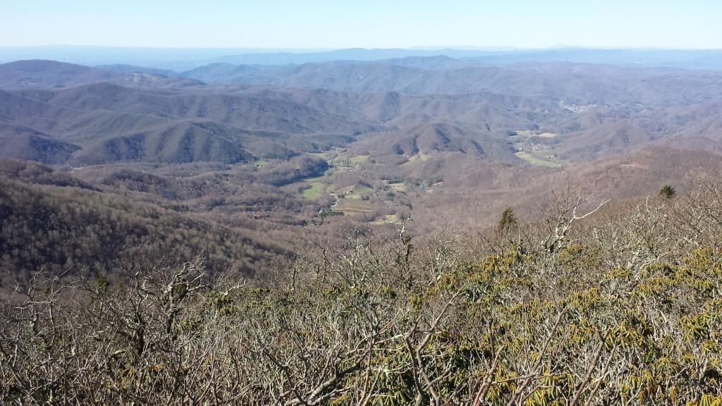 Appalachian mountain contours