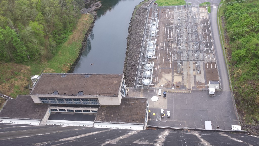 Fontana dam from above